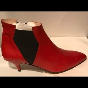 New Italian Red Ankle Boots 8 B